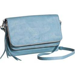 Torebki klasyczne damskie: Skórzana torebka w kolorze błękitnym