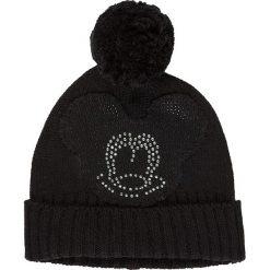 """Czapka """"Disney"""" w kolorze czarnym. Czarne czapki zimowe damskie Codello, z motywem z bajki, z dzianiny. W wyprzedaży za 107,95 zł."""