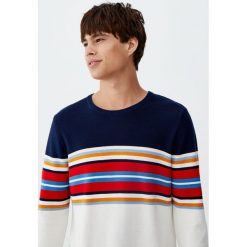 Sweter z dzianiny ottoman z pasami. Szare swetry klasyczne męskie Pull&Bear, m, z dzianiny. Za 69,90 zł.