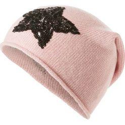 Czapka beanie w kolorze jasnoróżowym. Czerwone czapki zimowe damskie Codello, z dzianiny. W wyprzedaży za 73,95 zł.