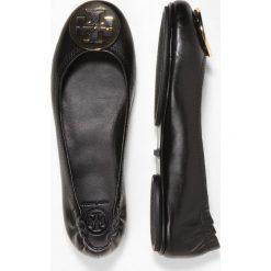 Tory Burch MINNIE TRAVEL Baleriny perfect black/gold. Czarne baleriny damskie lakierowane Tory Burch, z materiału. Za 989,00 zł.