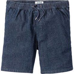Lekkie szorty dżinsowe Regular Fit bonprix ciemnoniebieski. Niebieskie spodenki jeansowe męskie bonprix. Za 89,99 zł.