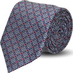 Krawaty męskie: krawat platinum szary classic 217
