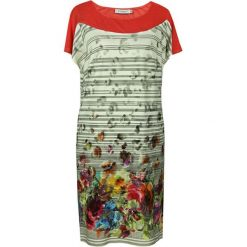 Sukienki hiszpanki: Sukienka w kolorze pomarańczowym ze wzorem