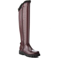 Muszkieterki EVA MINGE - Cotillas 4U 18SM1372502EF 134. Czerwone buty zimowe damskie marki Eva Minge, z materiału, przed kolano, na wysokim obcasie. W wyprzedaży za 499,00 zł.