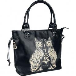 Banned Alternative Esoteric Cat Bag Torebka - Handbag czarny/biały. Białe torebki klasyczne damskie Banned Alternative, z nadrukiem, z nadrukiem. Za 164,90 zł.