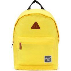 Plecaki męskie: Plecak w kolorze żółtym – 29 x 40 x 14 cm