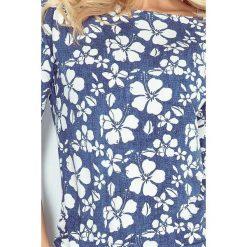 Isabelle Sukienka sportowa - ciemnoniebieski jeans - KWIAT - MALWA. Niebieskie sukienki na komunię marki numoco, na imprezę, s, w kwiaty, z jeansu, sportowe, sportowe. Za 109,00 zł.