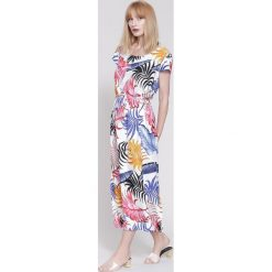 Sukienki hiszpanki: Biała Sukienka Palm Spring