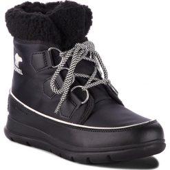 Śniegowce SOREL - Explorer Carnival NL3040 Black/Sea Salt 010. Czarne buty zimowe damskie Sorel, z gumy. W wyprzedaży za 399,00 zł.