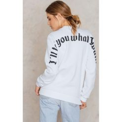 Bluzy damskie: NA-KD Trend Bluza I Tell You What I Want – White