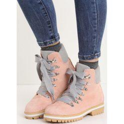 Buty zimowe damskie: Różowe Traperki Rapid Growth