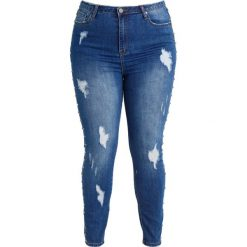 Missguided Plus Jeans Skinny Fit blue. Niebieskie jeansy damskie Missguided Plus. W wyprzedaży za 139,30 zł.