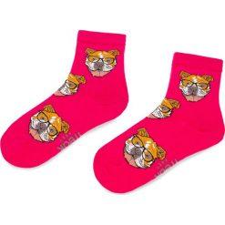 Skarpety Wysokie Damskie FREAK FEET - LBUL-RED Różowy 1. Niebieskie skarpetki damskie marki Freak Feet, w kolorowe wzory, z bawełny. Za 19,99 zł.