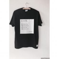 T-shirt z cytatem, Witkacy, D.U.P.A. Czarne t-shirty męskie marki Pakamera, m, z kapturem. Za 79,00 zł.