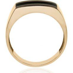 Złoty Pierścionek - złoto żółte 585. Żółte sygnety męskie marki W.KRUK, złote. Za 2190,00 zł.