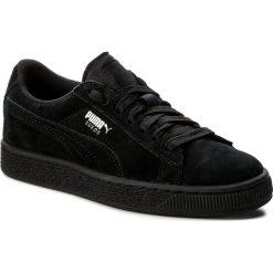 Sneakersy PUMA - Suede Jr 3551105 21 Black/Puma Silver. Czarne trampki chłopięce Puma, z materiału, na sznurówki. Za 269,00 zł.