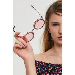 Okulary przeciwsłoneczne damskie aviatory: Okrągłe okulary przeciwsłoneczne – Różowy