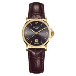 PROMOCJA ZEGAREK CERTINA DS Caimano Lady. Czarne zegarki damskie CERTINA, ze stali. W wyprzedaży za 1130,80 zł.