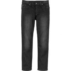"""Dżinsy Regular Fit Straight bonprix czarny denim """"used"""". Niebieskie jeansy męskie regular marki House. Za 79,99 zł."""
