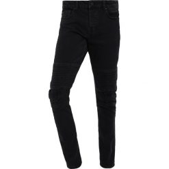 Only & Sons ONSSPUN BIKER  Jeansy Slim Fit black denim. Brązowe jeansy męskie marki Only & Sons, l, z poliesteru. Za 209,00 zł.