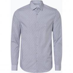 Calvin Klein - Koszula męska łatwa w prasowaniu, niebieski. Niebieskie koszule męskie na spinki Calvin Klein, m, w kwiaty. Za 299,95 zł.