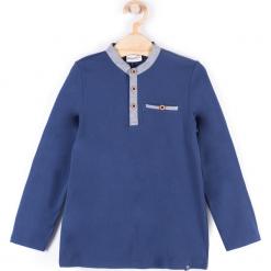 Koszulka. Niebieskie t-shirty chłopięce z długim rękawem BASIC BOY, z bawełny. Za 29,90 zł.