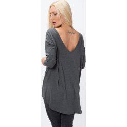 Bluzki damskie: Bluzka z dekoltem na plecach ciemnoszara 2611