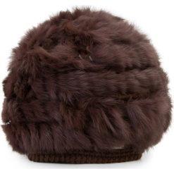 Czapka damska 87-HF-013-4. Brązowe czapki zimowe damskie Wittchen, na zimę. Za 129,00 zł.