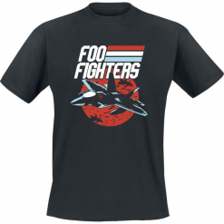 Foo Fighters Fighter Jet T-Shirt czarny. Czarne t-shirty męskie Foo Fighters, l. Za 74,90 zł.