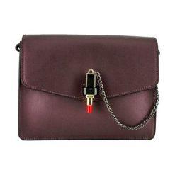 Torebki klasyczne damskie: Skórzana torebka w kolorze bordowym – (S)23 x (W)18 x (G)7 cm