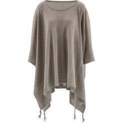 Swetry damskie: Sweter poncho z dłuższymi bokami bonprix brunatny