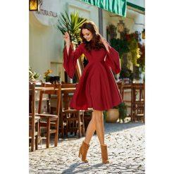 Zjawiskowa sukienka z rozszerzanymi rękawami bordo HAVEN. Szare sukienki hiszpanki Lemoniade, na spotkanie biznesowe, na jesień, z golfem, proste. Za 159,90 zł.