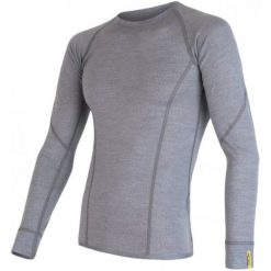 Odzież termoaktywna męska: Sensor Koszulka Termoaktywna Z Długim Rękawem Merino Wool Active M Gray Xxl