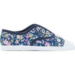 Trampki w kwiaty 26-39. Szare buty sportowe dziewczęce La Redoute Collections, w kwiaty, z materiału. Za 64,64 zł.