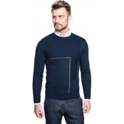 Sweter slam półgolf granatowy. Niebieskie swetry klasyczne męskie Recman, m, z golfem. Za 229,00 zł.