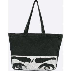 Reebok - Torebka. Szare torebki klasyczne damskie marki Reebok, z bawełny, duże. W wyprzedaży za 129,90 zł.