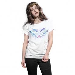Wonder Woman Logo Koszulka damska biały. Białe bluzki damskie Wonder Woman, xl, z nadrukiem, z okrągłym kołnierzem. Za 42,90 zł.