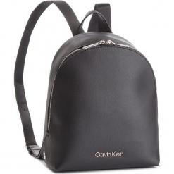 Plecak CALVIN KLEIN - Snap Sml Backpack K60K604804 001. Czarne plecaki damskie Calvin Klein, ze skóry ekologicznej, eleganckie. Za 549,00 zł.