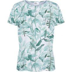 Colour Pleasure Koszulka damska CP-030 278 biało-miętowa r. XS/S. Fioletowe bluzki damskie marki Colour pleasure, uniwersalny. Za 70,35 zł.