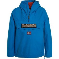 Napapijri RAINFOREST  Kurtka Outdoor tourquoise. Niebieskie kurtki chłopięce marki Napapijri, z bawełny. W wyprzedaży za 411,75 zł.