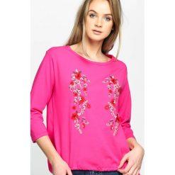 Fuksjowa Bluzka Hidden Beauty. Różowe bluzki longsleeves marki Born2be, l. Za 39,99 zł.