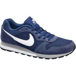 Buty męskie Nike Md Runner 2 NIKE niebieskie. Niebieskie buty do biegania damskie marki Nike, z gumy, nike md runner. Za 279,90 zł.