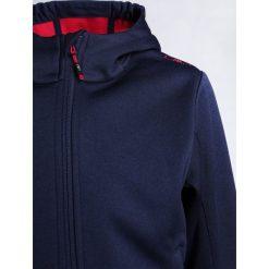 CMP GIRL JACKET FIX HOOD Kurtka Softshell navy melange/ibisco. Niebieskie kurtki chłopięce przeciwdeszczowe CMP, z materiału. Za 209,00 zł.