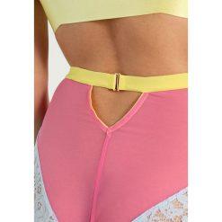 Majtki damskie: Dora Larsen WINNIE HIGH WAISTED KNICKER Figi pink/yellow/light grey