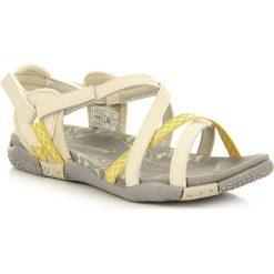 Rzymianki damskie: Beżowe sandały damskie sportowe Hasby