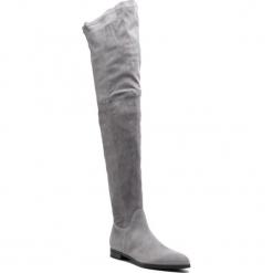 Muszkieterki GINO ROSSI - Alba DKI055-S48-0247-0469-0 96/96. Czarne buty zimowe damskie marki Gino Rossi, z materiału, na obcasie. W wyprzedaży za 779,00 zł.