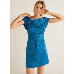 Mango - Sukienka Jacky. Szare sukienki asymetryczne marki Mohito, l, z asymetrycznym kołnierzem. Za 199,90 zł.
