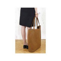 Mega Shopper bag ruda torba oversize Vegan. Brązowe shopper bag damskie Hairoo, w paski. Za 185,00 zł.