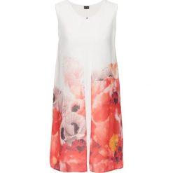 Sukienka z szyfonową narzutką w kwiaty bonprix biało-różowo-czerwono-kolorowy. Czarne bolerka i narzutki damskie marki bonprix, na co dzień, z szyfonu. Za 119,99 zł.